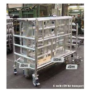Trabattello in alluminio  139 x 264 cm salita Elettrica  altezza da 1 a 12 m al Piano
