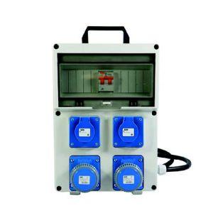 Quadro elettrico portatile monofase 3 Kw 4 Prese con 2 prese Schuko