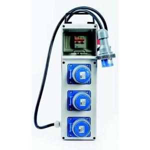 Quadro elettrico portatile monofase 3 Kw 3 Prese con pulsante di emergenza