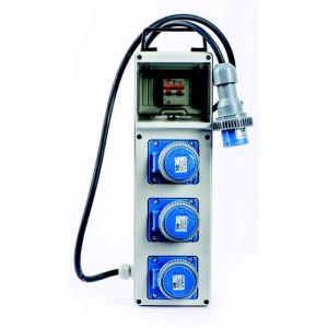 Quadro elettrico portatile monofase 3 Kw 3 Prese
