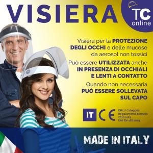 VisierA di protezione Covid-19 Certificata CE Made in Italy