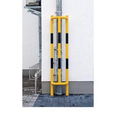 Protezione verticale per tubazioni con fissaggio al suolo