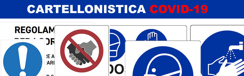 Cartellonistica anti Covid-19